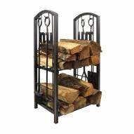 New York Giants Fireplace Wood Holder & Tool Set