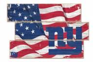 New York Giants Flag 3 Plank Sign