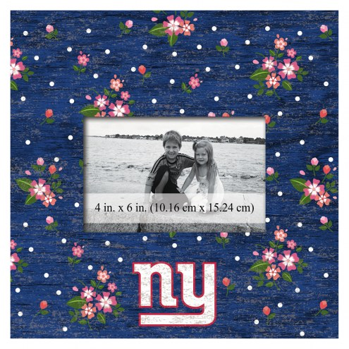 """New York Giants Floral 10"""" x 10"""" Picture Frame"""