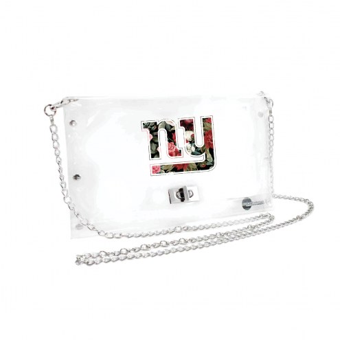 New York Giants Floral Clear Envelope Purse