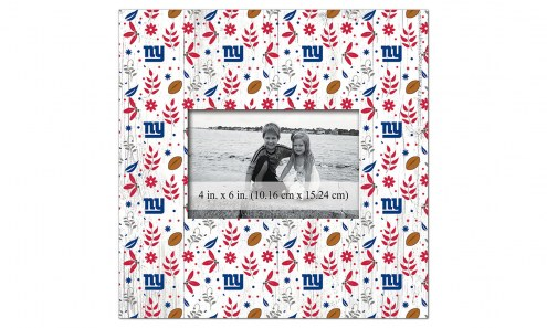 """New York Giants Floral Pattern 10"""" x 10"""" Picture Frame"""