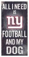 New York Giants Football & My Dog Sign