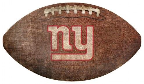 New York Giants Football Shaped Sign
