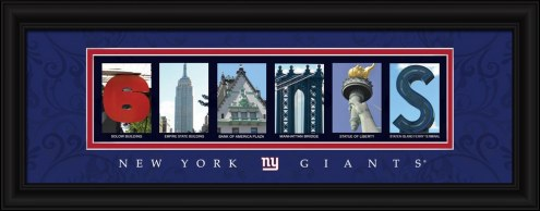 New York Giants Framed Letter Art