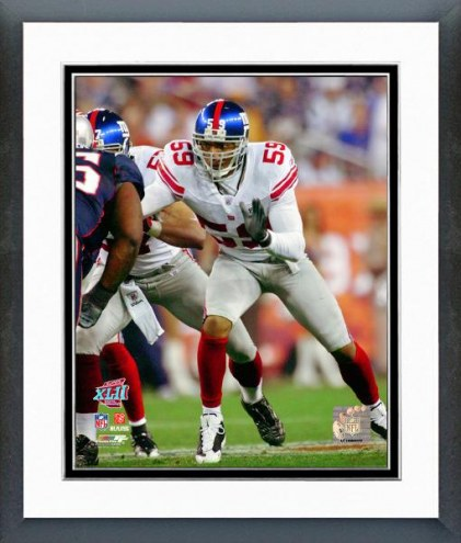 New York Giants Gerris Wilkinson Super Bowl XLII Action Framed Photo