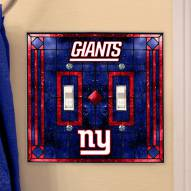 New York Giants Glass Double Switch Plate Cover