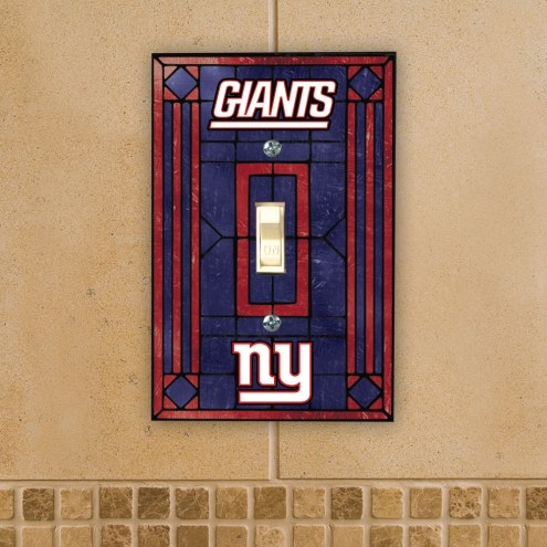 New York Giants Glass Single Light Switch Plate Cover