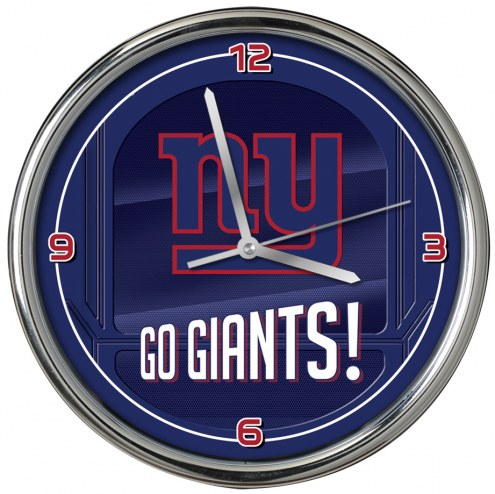 New York Giants Go Team Chrome Clock