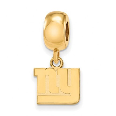 New York Giants Sterling Silver Gold Plated Extra Small Dangle Bead Charm