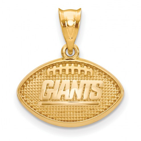New York Giants Gold Plated Football Pendant