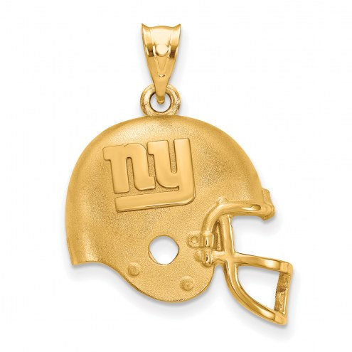 New York Giants Gold Plated Helmet Pendant