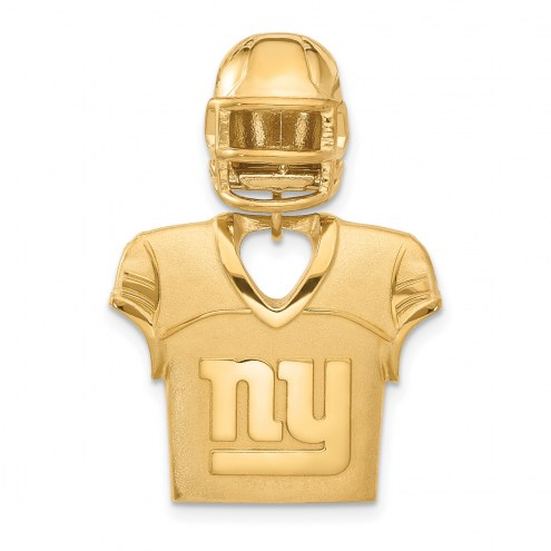 New York Giants Gold Plated Jersey & Helmet Pendant