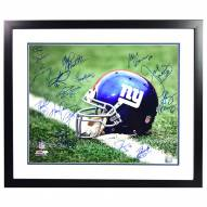 New York Giants Greats Multi Signed Helmet 16 x 20 Framed Photo