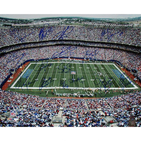 "New York Giants Greats ""Stadium Shot"" 16 Signatures Signed 16"" x 20"" Photo"