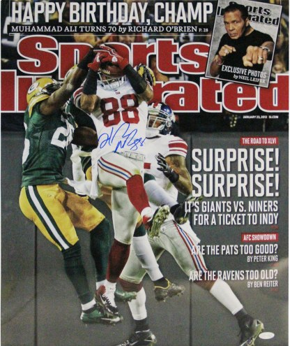 """New York Giants Hakeem Nicks """"Surprise! Surprise!"""" Sports Illustrated Cover Signed 16"""" x 20"""" Photo"""