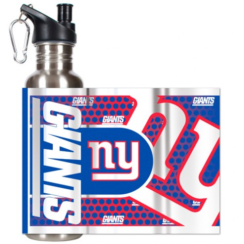 New York Giants Hi-Def Stainless Steel Water Bottle