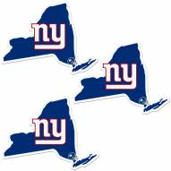 New York Giants Home State Decal - 3 Pack