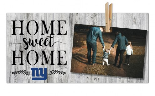 New York Giants Home Sweet Home Clothespin Frame