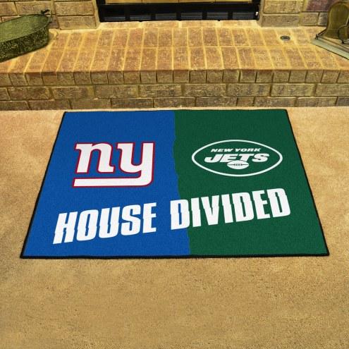 New York Giants/New York Jets House Divided Mat