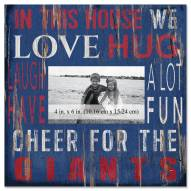 """New York Giants In This House 10"""" x 10"""" Picture Frame"""