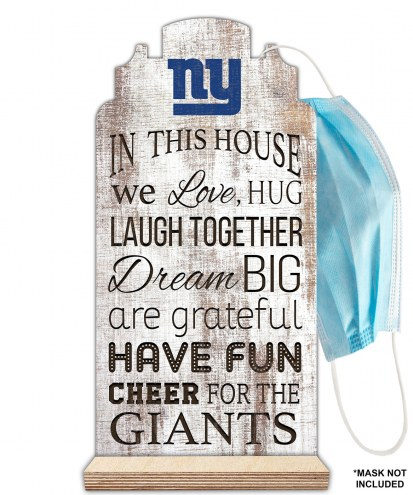 New York Giants In This House Mask Holder