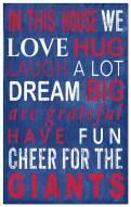 New York Giants In This House Sign