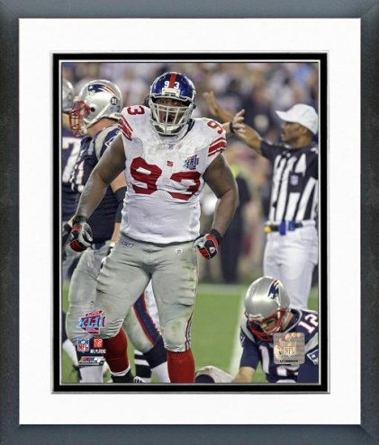New York Giants Jay Alford Super Bowl XLII Action Framed Photo