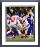New York Giants Jeff Feagles & Eli Manning 2007 NFC championship game Action Framed Photo
