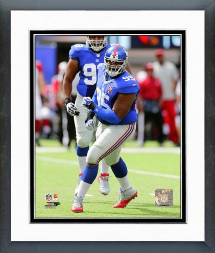New York Giants Johnathan Hankins Action Framed Photo