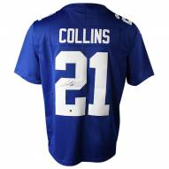 New York Giants Landon Collins Signed Blue Limited Twill Jersey