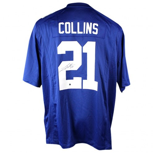 New York Giants Landon Collins Signed Blue Replica Nike Jersey