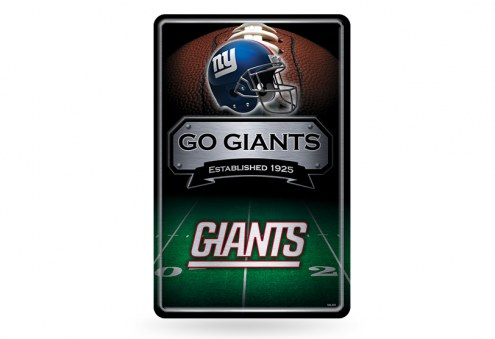 New York Giants Large Embossed Metal Wall Sign