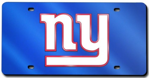 New York Giants Laser Cut Blue License Plate
