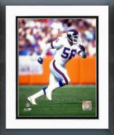 New York Giants Lawrence Taylor 1990 Action Framed Photo