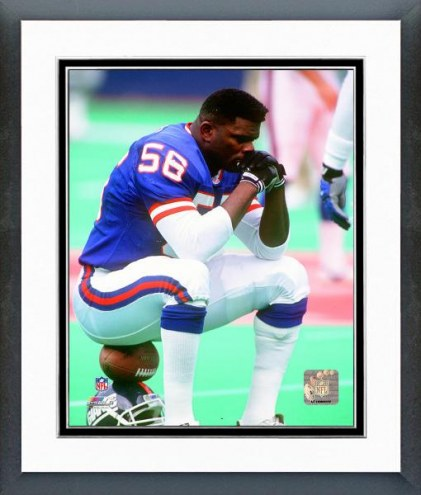 New York Giants Lawrence Taylor 1991 Action Framed Photo