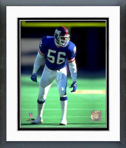 New York Giants Lawrence Taylor 1993 Action Framed Photo