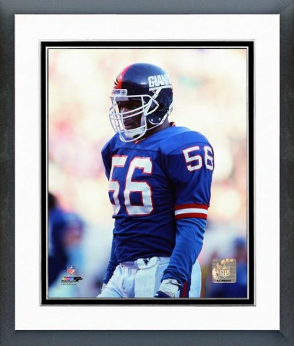 New York Giants Lawrence Taylor Action Framed Photo