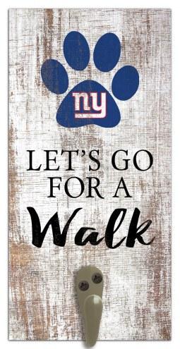 New York Giants Leash Holder Sign