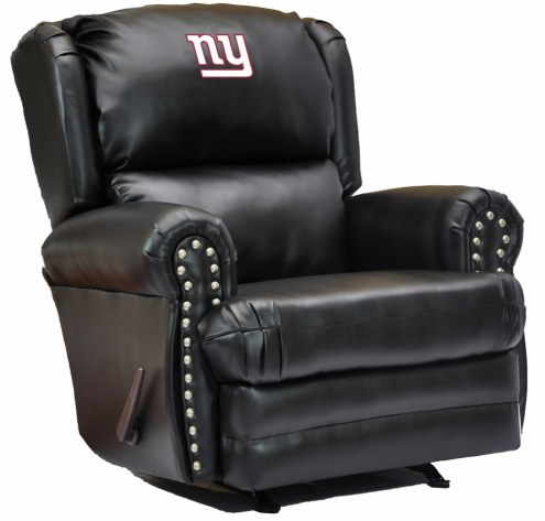 New York Giants Leather Coach Recliner
