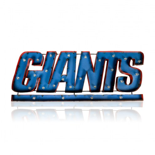 New York Giants Lighted Recycled Metal Sign