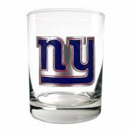 New York Giants Logo Rocks Glass - Set of 2