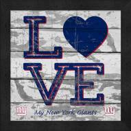 New York Giants Love My Team Square Wall Decor
