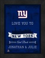 New York Giants Love You to and Back Framed Print