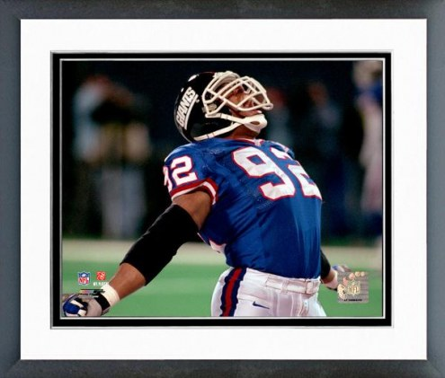 New York Giants Michael Strahan 1999 Action Framed Photo