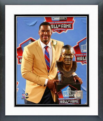New York Giants Michael Strahan Hall of Fame Induction Ceremony Framed Photo