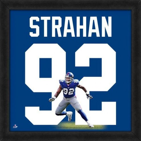 New York Giants Michael Strahan Uniframe Framed Jersey Photo