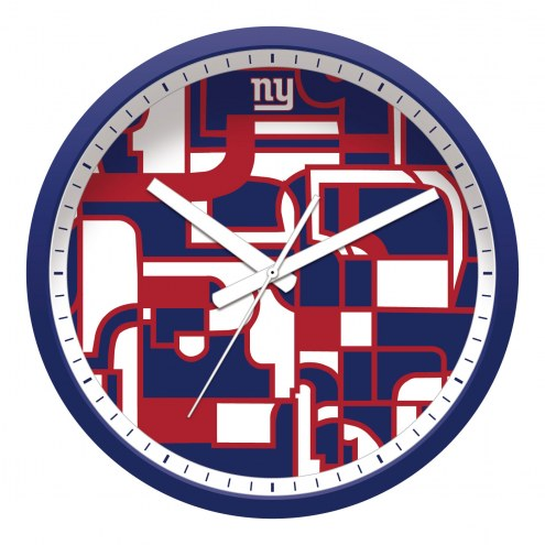 New York Giants Modern Wall Clock