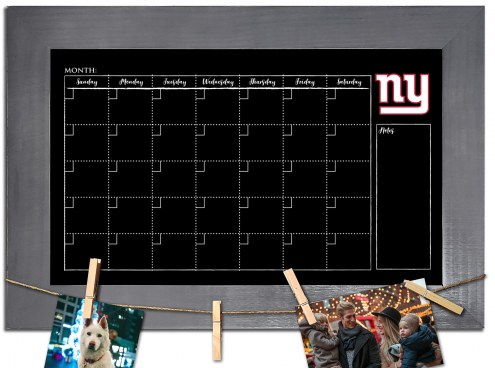 New York Giants Monthly Chalkboard with Frame