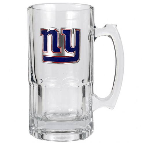 New York Giants NFL 1 Liter Glass Macho Mug