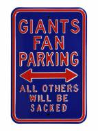 New York Giants NFL Authentic Parking Sign